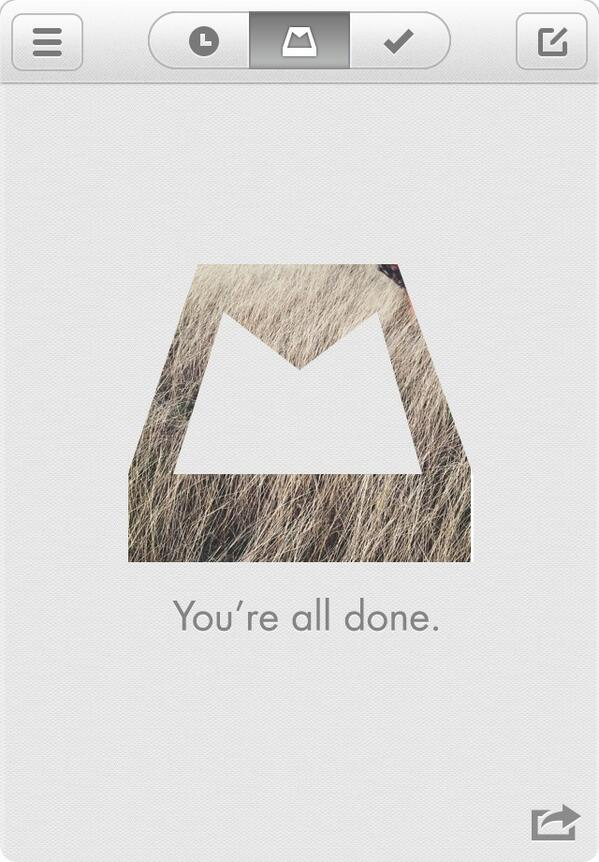 Twitter / weg3: Got 'er done. #InboxZero via ...