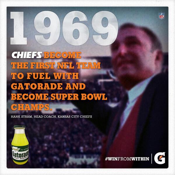 "Gatorade Super Bowl Towel: Gatorade On Twitter: ""1969-70: Kansas City #Chiefs Become"