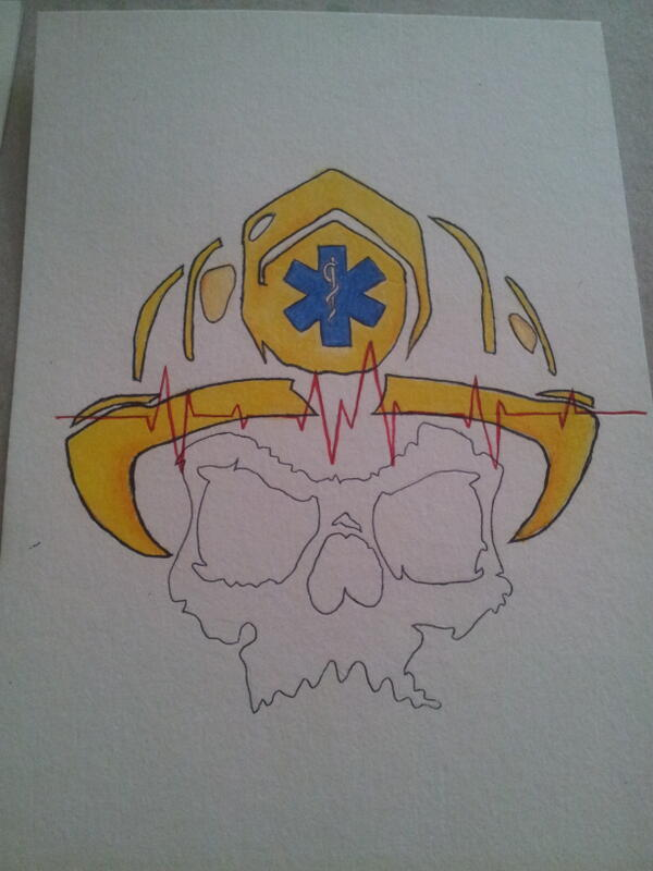 Twitter / tnkarts: A tattoo concept for my cousin. ...