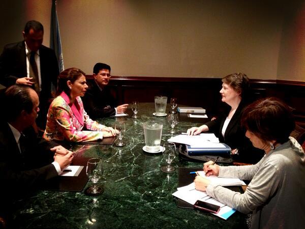 Twitter / HelenClarkUNDP: Met Costa Rica President Laura ...