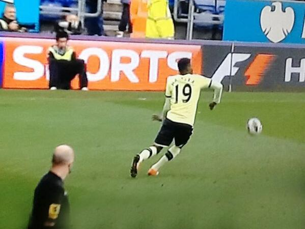 How didnt the linesman spot Callum McManamans horror challenge on Massadiao Haidara?