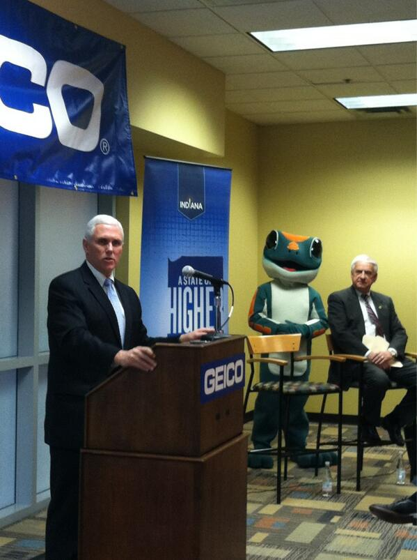 IN Gov. Mike Pence at GEICO announcement