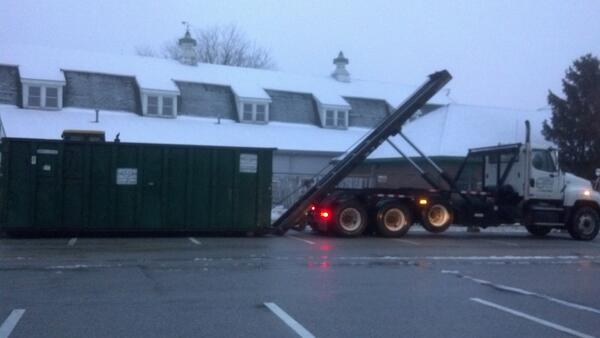 Twitter / ydrcom: A truck drops off a disposal ...