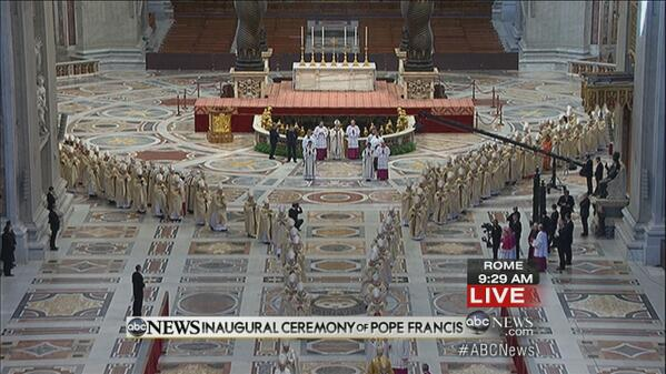 Twitter / abcWNN: PIC: #InauguralMass for Pope ...
