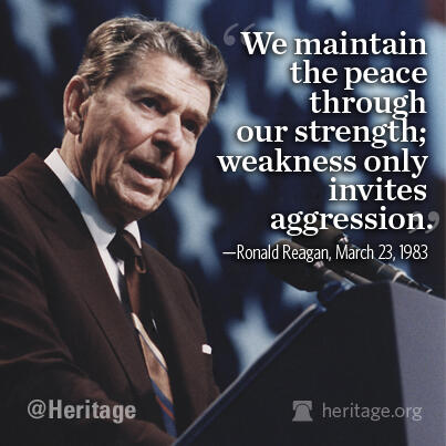 American strength is the greatest tool for peace