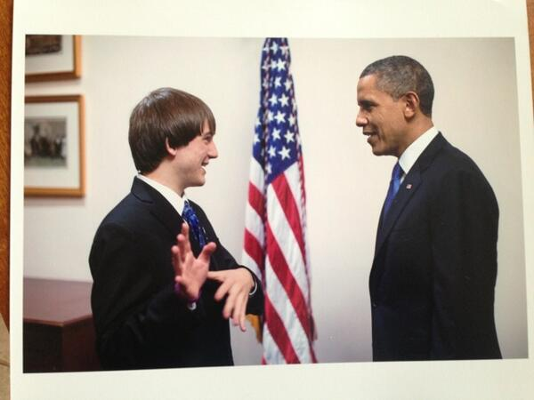 Me at #SOTU w the President:) @intel @Intelinvolved @intelisef Thanks for supporting #stem! http://t.co/DryF4mqLNL