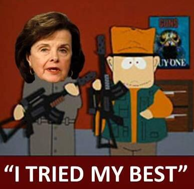 #DIANNEFEINSTEIN FAIL - #NRA #WAR #TCOT #LNYHBT #CCOT #TEAPARTY http://pic.twitter.com/peqHyzasWR