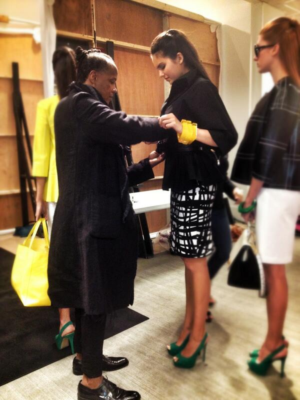 Twitter / lafayette148ny: Edward zipping up our Justina ...