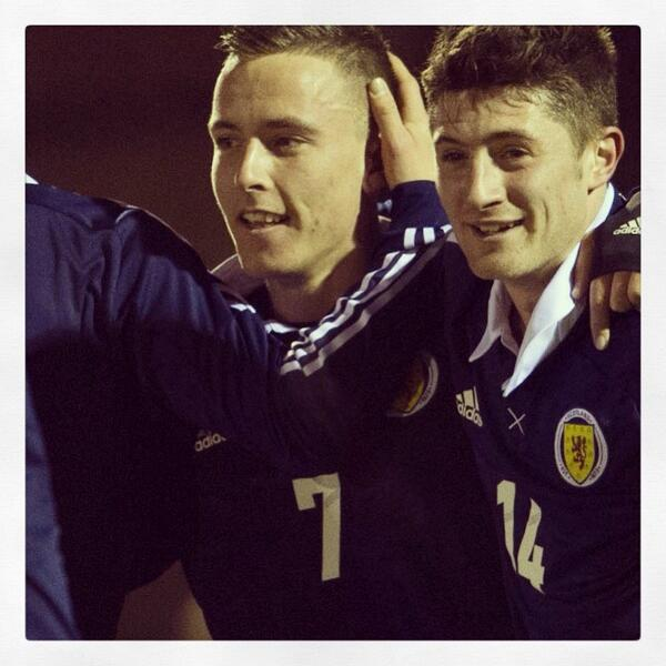 Twitter / ScottishFA: .@BarrieMcKay celebrates with ...
