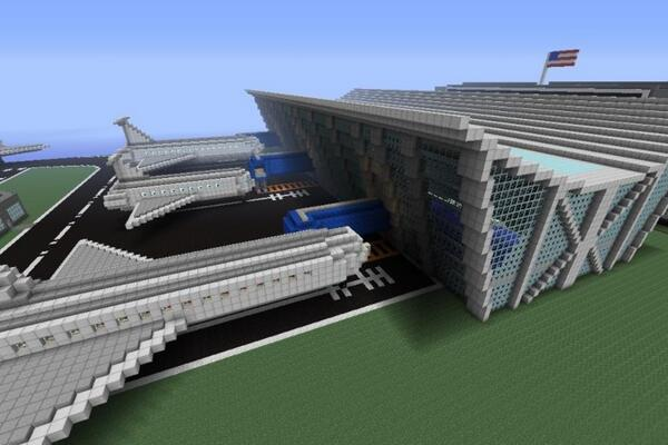 how to make a air port on minecraft