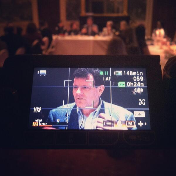 Happening right now: @nytimes columnist @NickKristof is having dinner with #DrewU students. http://t.co/YoQ3lllTrv