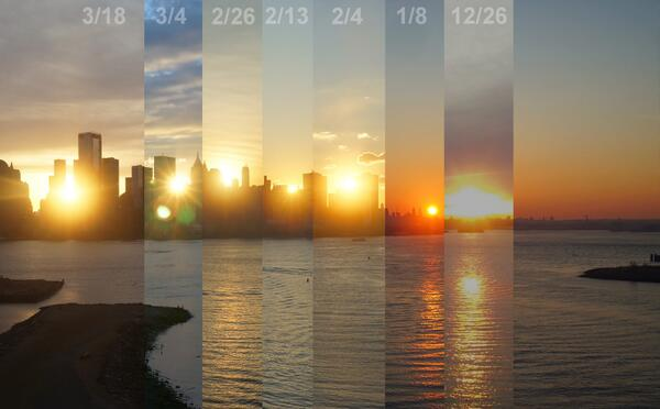 Twitter / augieray: Seven sunrises over New York ...