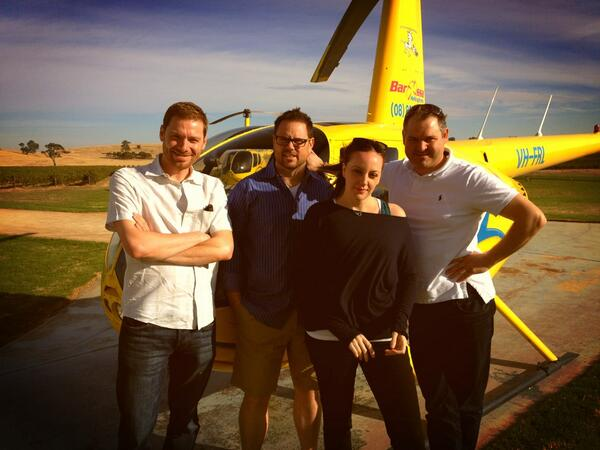 Twitter / DBrahms: #Barossa Valley heli tour with ...