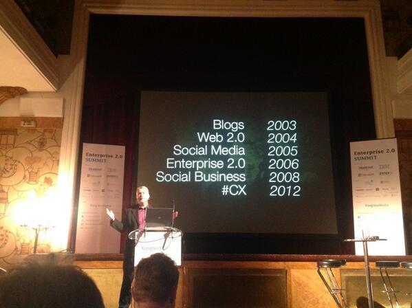 Enterprise 2.0 started in 2006... #e20s http://t.co/KoAESAh3OU