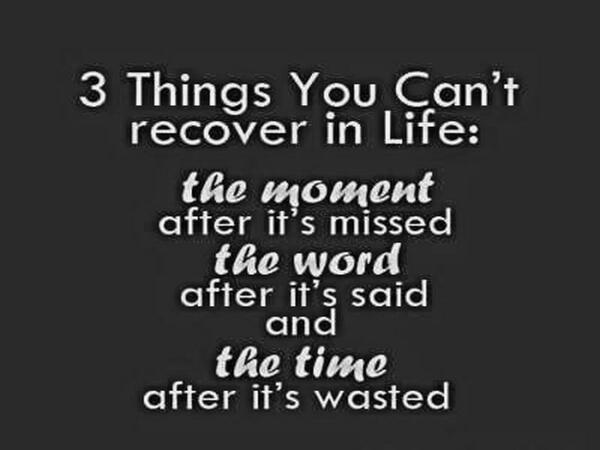 "Chris Doyle On Twitter: """"3 Things You Can't Recover"" Pic"