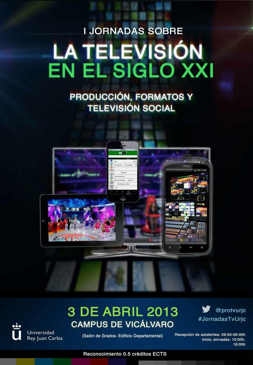 Cartel de las I Jornadas sobre la televisión en el siglo 21