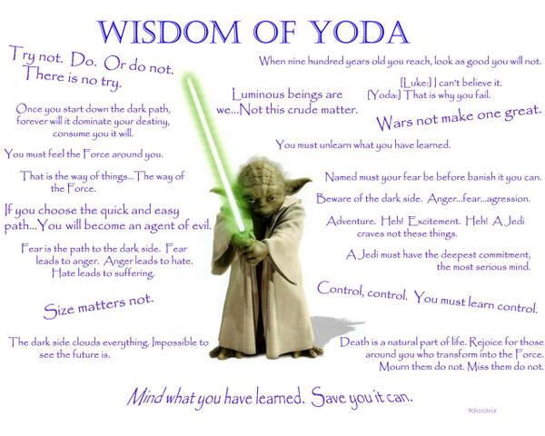 Wise Master Yoda On Twitter Yoda Quotes Starwars Httpt