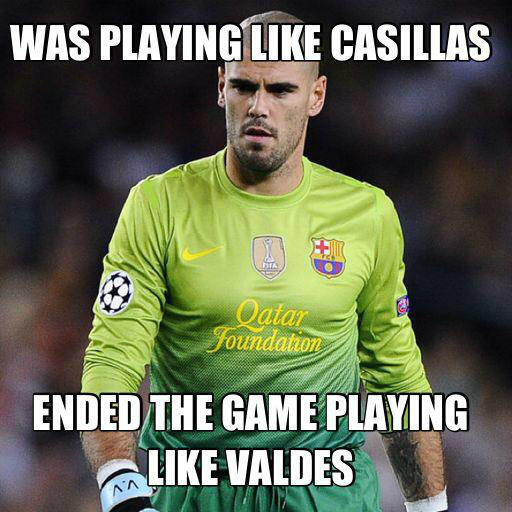 In Pictures: Photoshoppers lay into Victor Valdes after PSGs late leveller v Barcelona