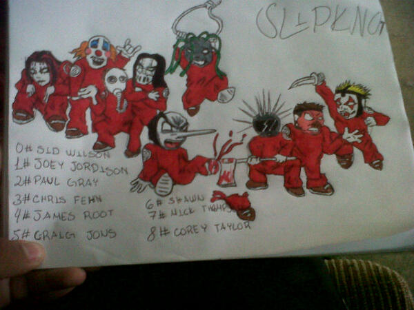 Carlos Jafet On Twitter Mi Dibujo De Slipknot Httptco