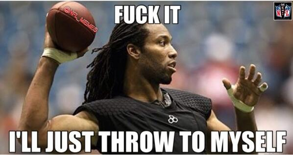Nfl Memes On Twitter Larry Fitzgeralds Reaction To The Arizona
