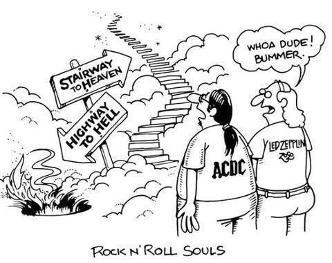Twitter / JoyAndLife: The afterlife dilemma for Rock ...