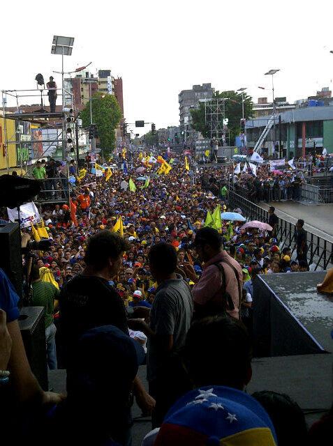 Comparando las concentraciones de Capriles vs Maduro
