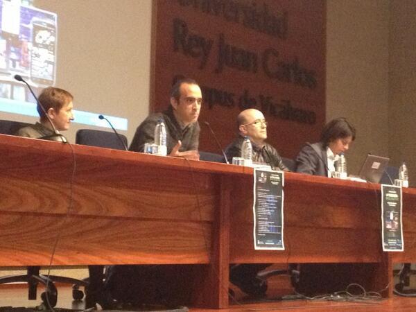 Sergio Álvarez García, en la presentación de las primeras Jornadas sobre Televisión en el siglo 21