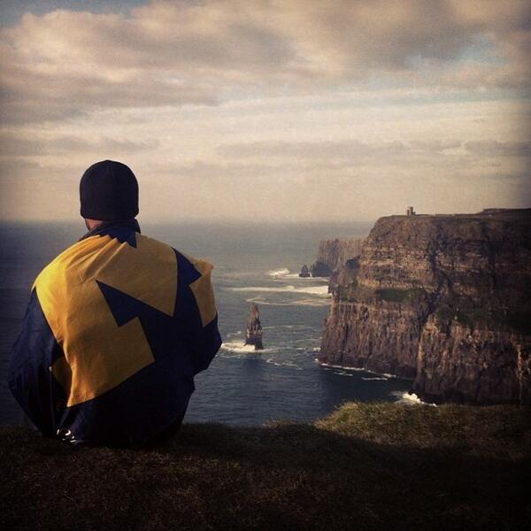 What a great shot! RT @adsuper7: Cliffs of Moher near County Clare, Ireland...amazing! #goblue #rossmap pic.twitter.com/sswk7tz57i