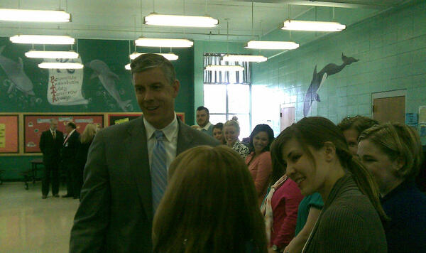 A district heading in the right direction! RT @knoxschools: Thanks to @arneduncan for a great visit w/ @knoxschools! pic.twitter.com/hhD9qzxZXP