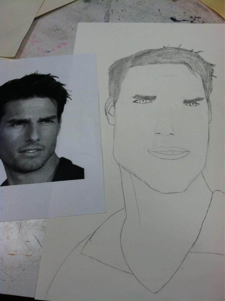 Twitter / mnp_nom: attempted to draw @TomCruise ...