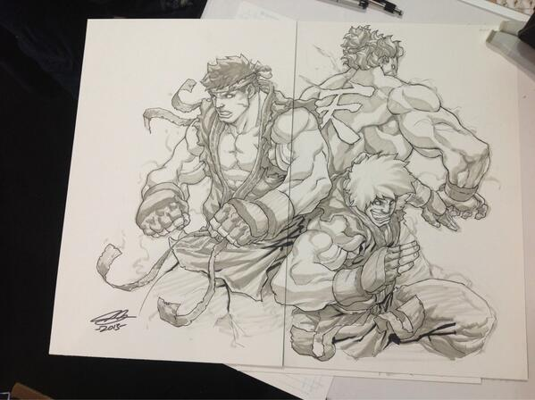 Udon On Twitter Evil Ryu Psycho Ken Akuma By Joe Ng At Paxeast