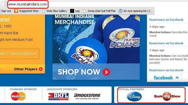 .@sardesairajdeep And voila what do i find? Ur ticketing venture @bookmyshow is official partner 4 Mumbai Indians 4/n http://t.co/0z8iDUihW0