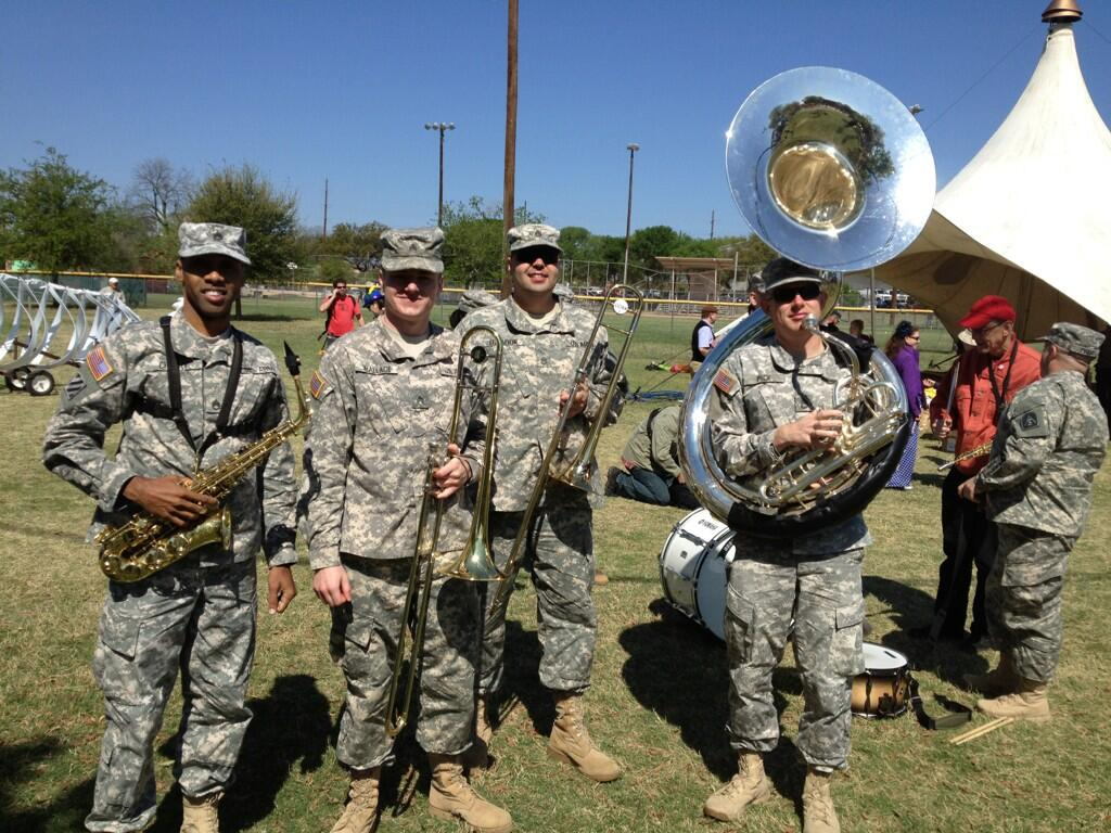 Twitter / OHSAYUSA: Military brass band at Honk ...
