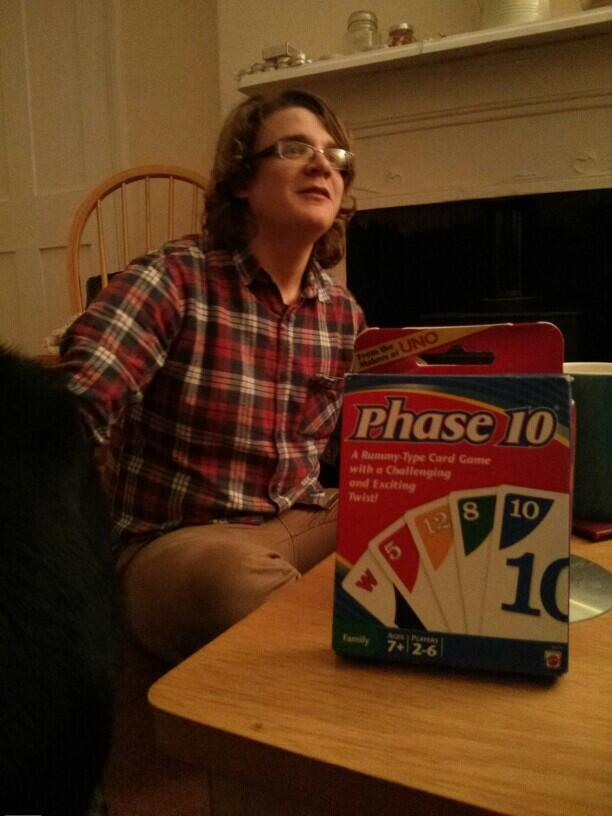 Twitter / goldrush88: Phase10 with mother in law, ...