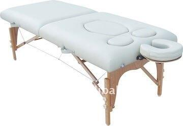 Massage table with hole for penis
