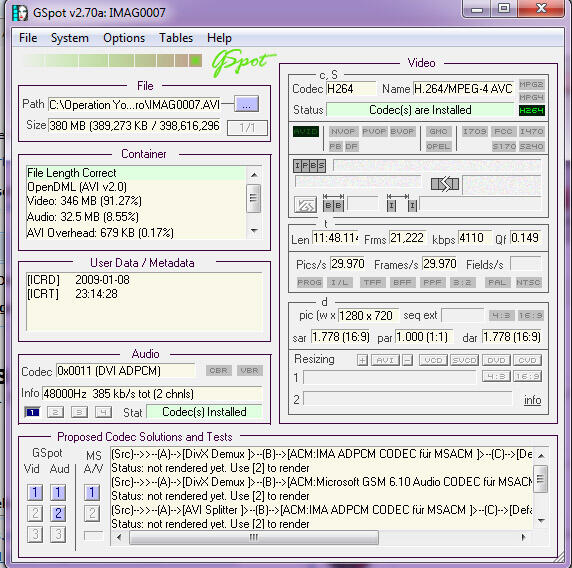Codec Problems/ avi  files | Adobe Community