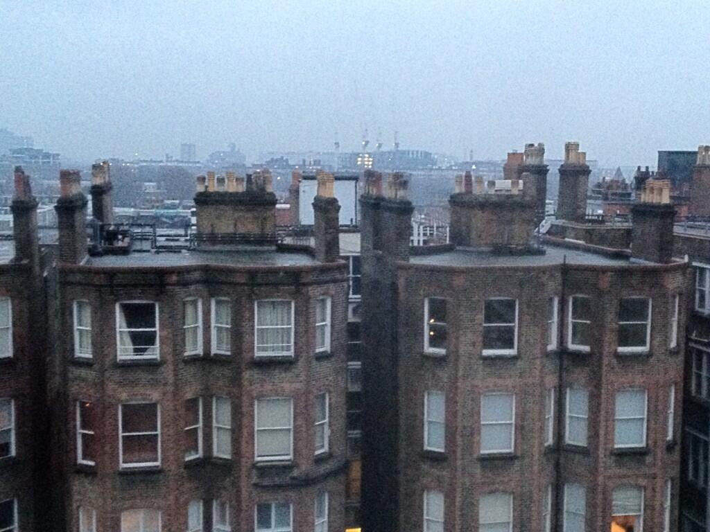 Twitter / KarenDFrancis: Look at the rooftops! Chim-chim ...