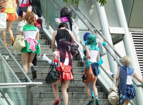 upskirt Sailor moon cosplay