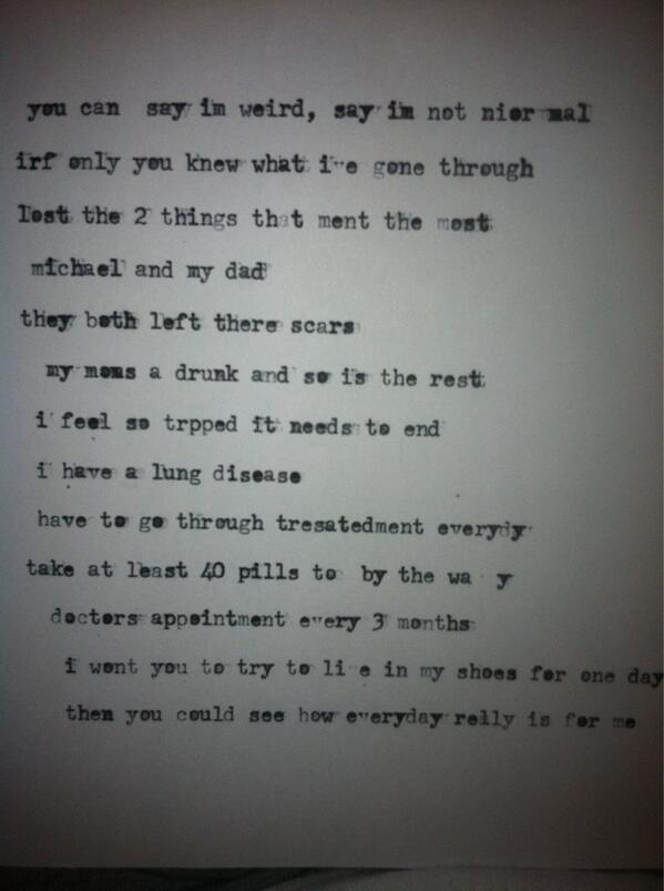 Found this under a pile of papers in my room. I wrote this years ago. Omg. http://t.co/gYzJtMF20D