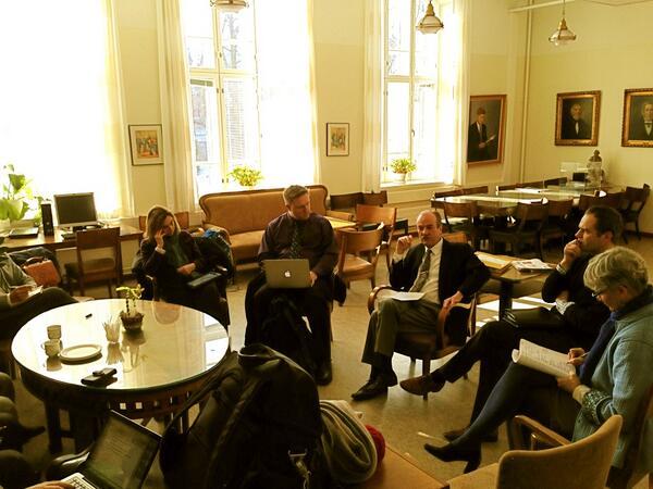 [Teacher's lounge] Principal: Normal School built in 1867 (oldest) -1of 8 teacher ed schools in Finland. #pennfinn13 http://t.co/Mv1GkG9ZNH