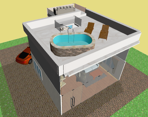 "Planner 5D on Twitter ""Pool on the roof is very chick 2 floor"