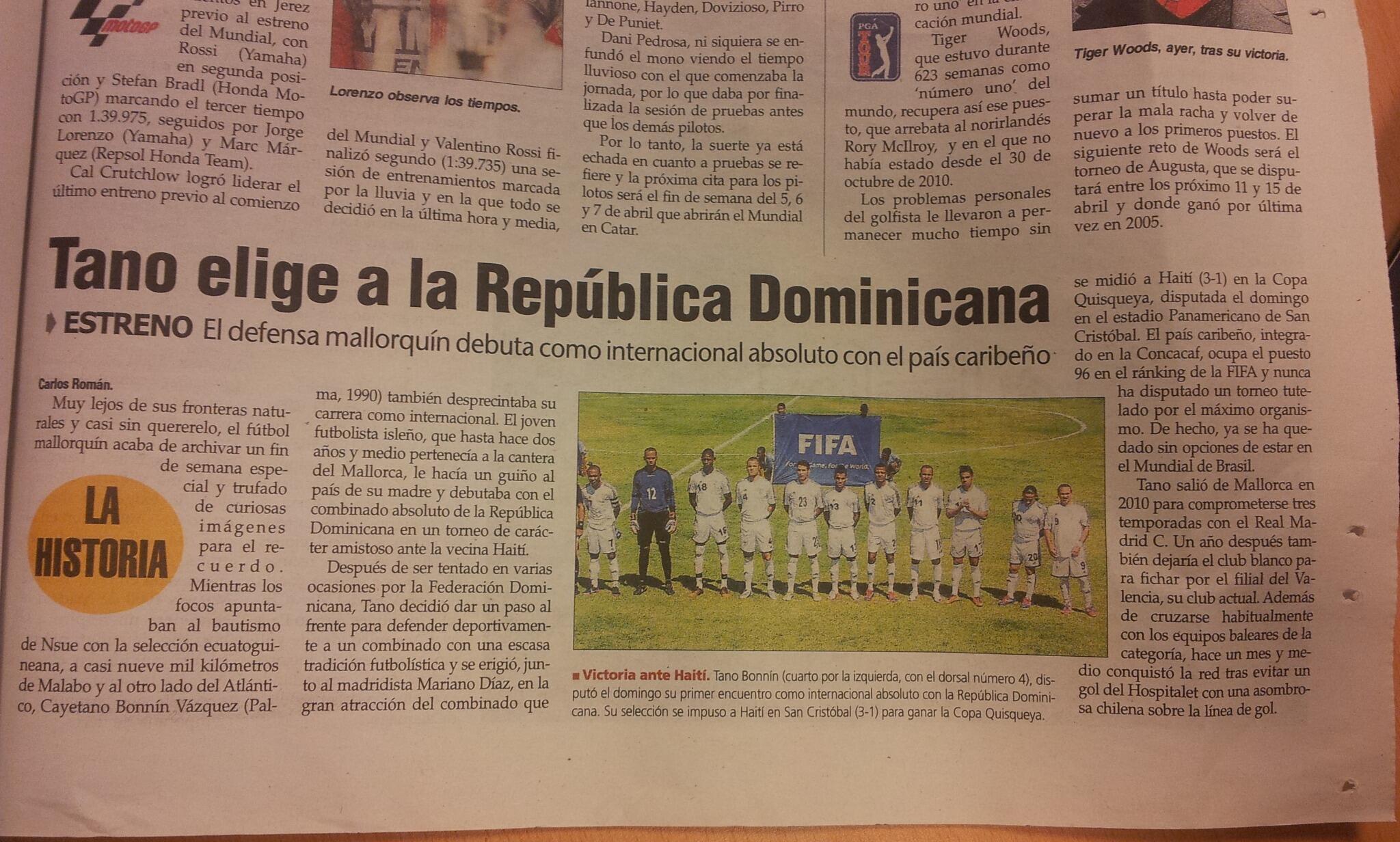 Tano en la prensa española
