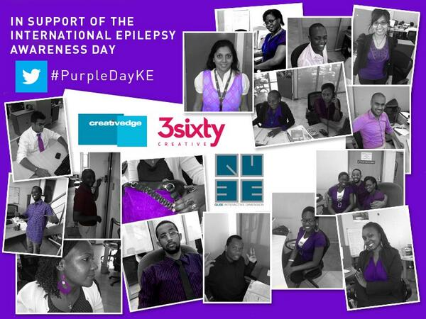 All purple today in the office in support of the International Epilepsy Awareness Day. #PurpleDayKE @SitawaWafula http://t.co/yWCRj7pdJm