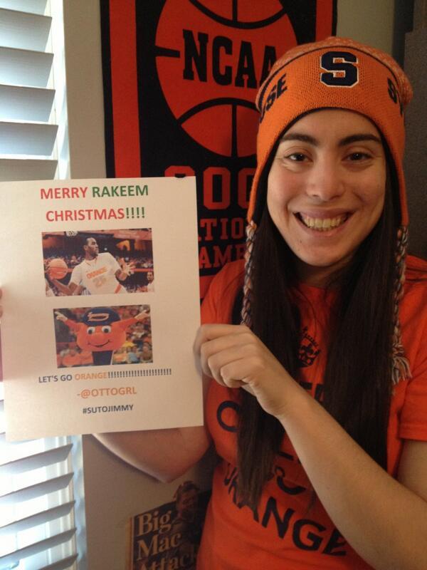 Merry Rakeem Christmas @jimmyfallon!!! #SUtoJimmy #cuse http://t.co/nCVViE6W2H