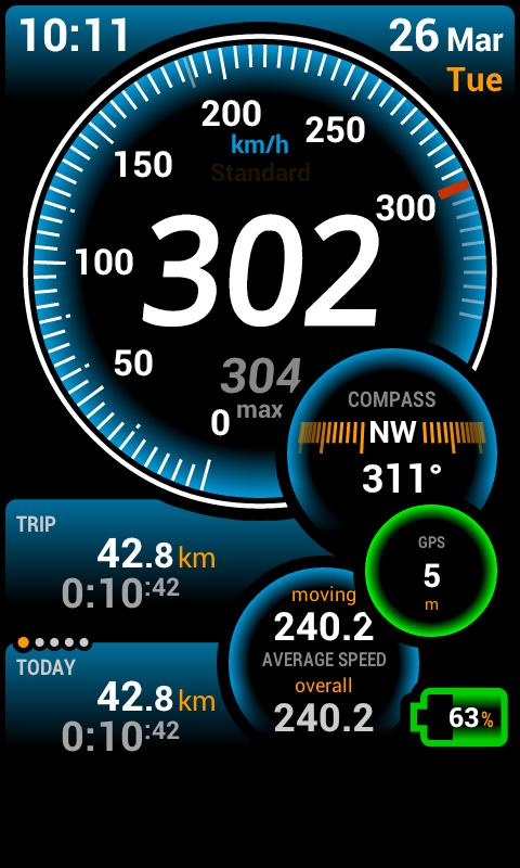 Twitter / fruey: Testing GPS speedometer app ...