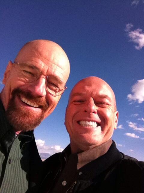Photo of Dean Norris & his friend   -
