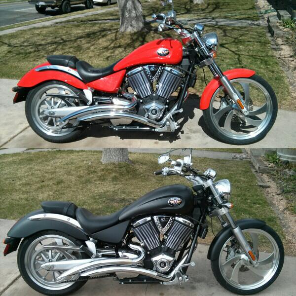 Dipped Inc On Twitter Polaris Victory Before After Candy Red To Matte Black Plastidip Dipped Motorcycle Http T Co Kqqsdbdo7t Http T Co Kzgvr4kne8