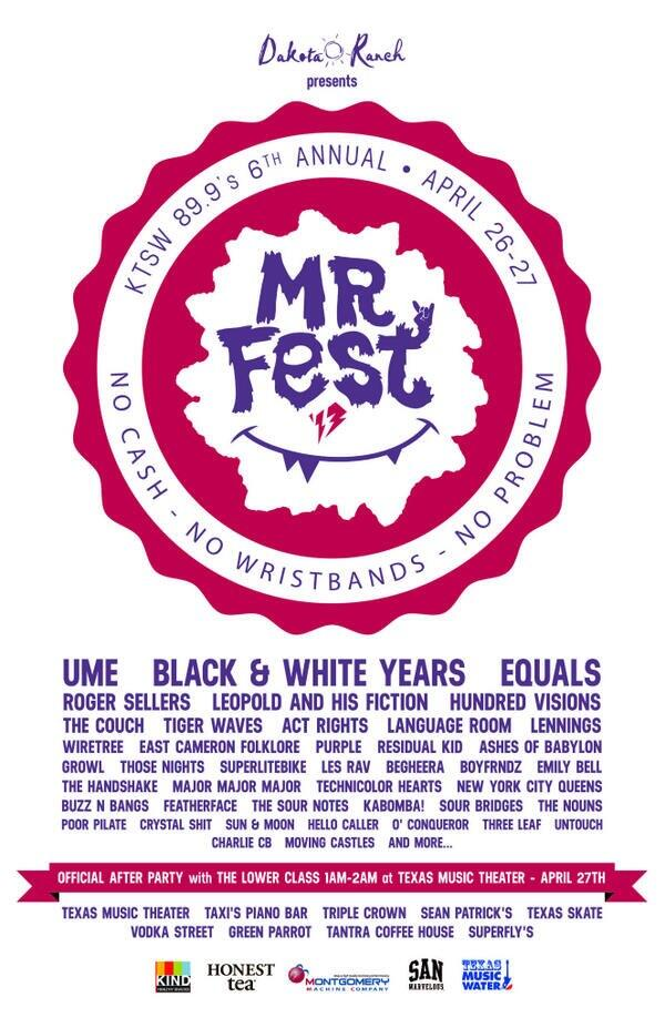 Are you ready for #MRFest? @umemusic @blackwhiteyears @equalstexas @roger_sellers @leopoldfiction & many many more! http://t.co/4BbrvygrqF