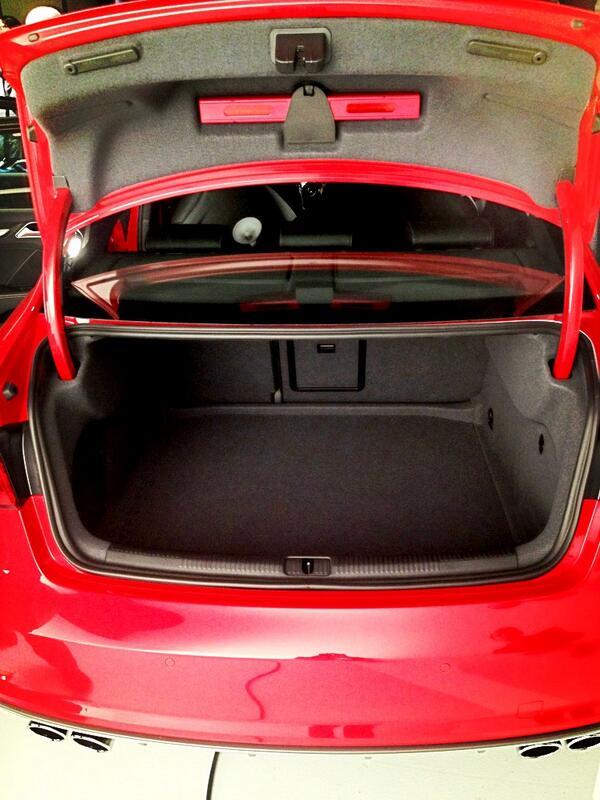 For @Audi's smallest U.S. car, that's a big trunk #Audi #ProgressIs #A3 #S3 @MatthewAskari http://t.co/EROq44aw28