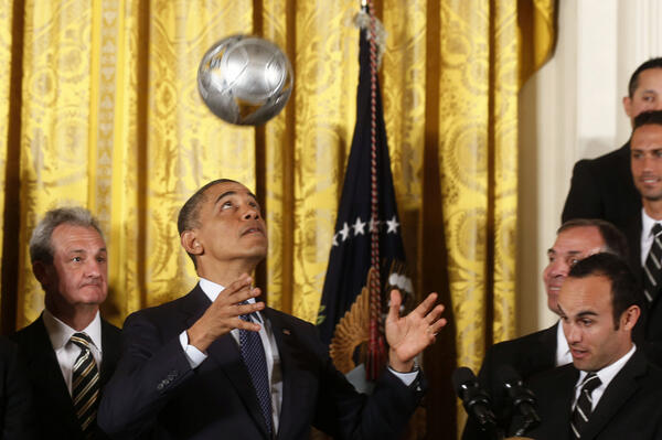 Obama: World Cup schedule affecting foreign policy moves